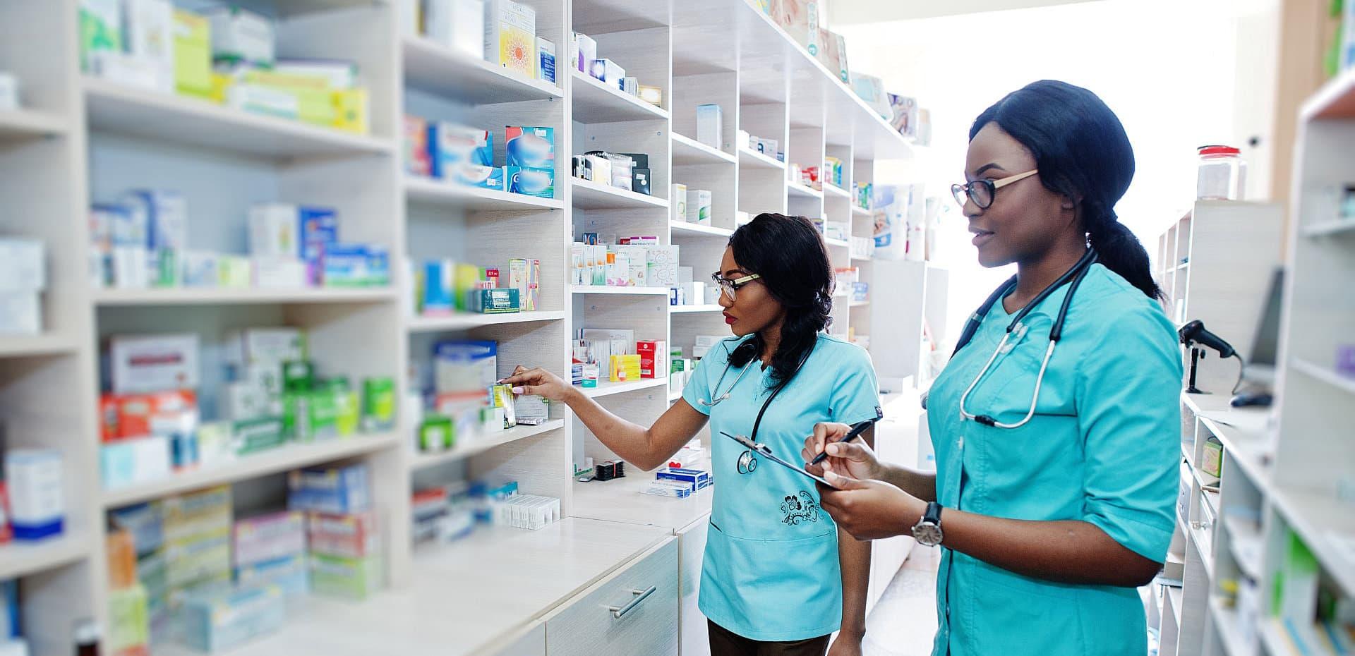 two female pharmacist