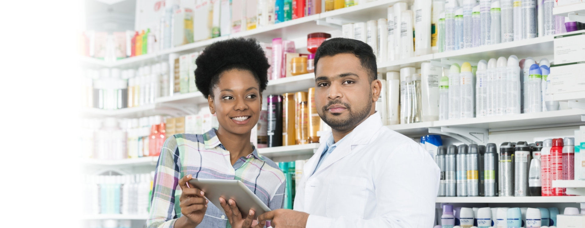 pharmacist with his customer